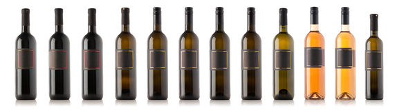 Wine bottle collection Royalty Free Stock Photo