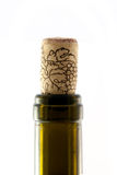 Wine bottle with cork Royalty Free Stock Image