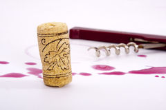Wine bottle cork Stock Images
