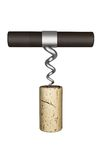 Wine bottle Cork opener screw Stock Images