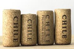 Wine bottle corks of Chile 07 Stock Photos