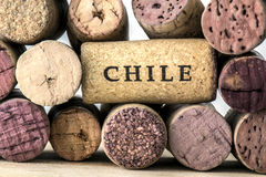 Wine bottle corks of Chile 05 Stock Photo
