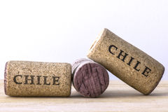 Wine bottle corks of Chile 01 Stock Photography