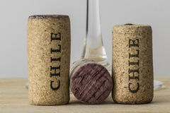 Wine bottle corks of Chile 04 Royalty Free Stock Image