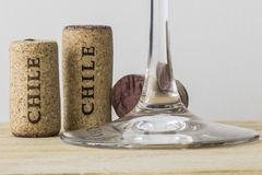Wine bottle corks of Chile 03 Royalty Free Stock Image