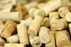 Wine bottle corks Stock Images