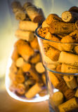 Wine bottle corks. Collection of different wine corks stock photos