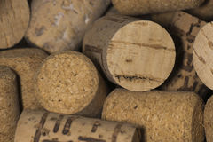 Wine Bottle Corks macro Stock Photography