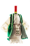 Wine bottle costume in European folklore style Royalty Free Stock Photos