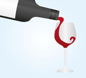 Wine bottle and cup Royalty Free Stock Photography