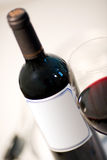 Wine bottle and cup Royalty Free Stock Photos