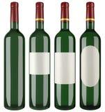 Wine Bottle Cutout Stock Image