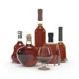 Wine bottle  3d rendering Royalty Free Stock Image