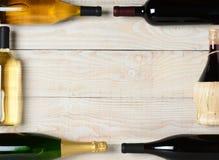 Wine Bottle Frame Royalty Free Stock Photography