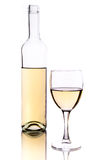 Wine bottle and glass. Over white background Royalty Free Stock Image