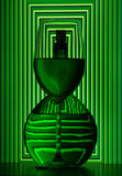 Wine bottle and glass royalty free stock photos