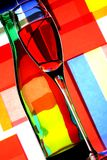 Wine Bottle & Glass Abstract Stock Photo