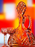 Wine Bottle & Glass Abstract Royalty Free Stock Images