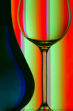 Wine bottle & glass close up royalty free stock photography