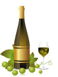 Wine bottle, glass concept  for celebration Stock Photo
