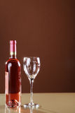 Wine in bottle and glass Stock Image