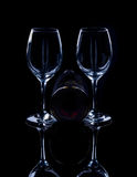 Wine bottle and glass. Royalty Free Stock Photos