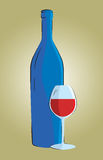 Wine bottle and glass. Still life of wine and glass Royalty Free Stock Photos