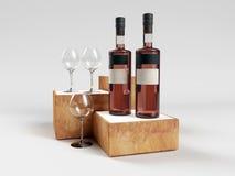 Wine bottle Glass Stock Images