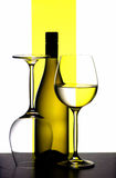 Wine bottle and glasses royalty free stock images