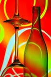 Wine bottle & glasses Royalty Free Stock Image