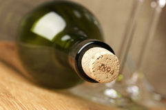 Wine bottle and glasses Stock Photography