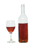 Wine bottle and goblet Royalty Free Stock Images