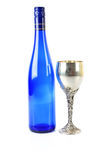 Wine bottle & goblet Royalty Free Stock Photo