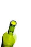 Wine bottle, green wine bottle. On white Stock Photography