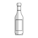 Wine bottle icon Royalty Free Stock Photography