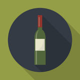 Wine bottle icon. Royalty Free Stock Photo