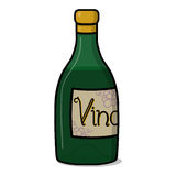 Wine bottle illustration. Green wine bottle illustration; Vino Stock Photos