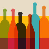 Wine bottle illustration. Stock Photo
