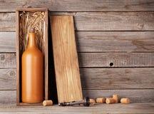 Free Wine Bottle In Box Stock Image - 88908691