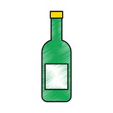 Wine bottle isolated icon Stock Photography