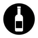 Wine bottle isolated icon Royalty Free Stock Photo