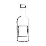 Wine bottle isolated icon Stock Photo