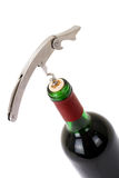 Wine Bottle Isolated On A White Background Stock Images