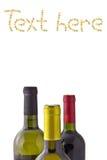 Wine bottle isolated Stock Images