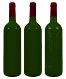 Wine bottle Isolated on white Royalty Free Stock Image