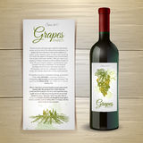 Wine bottle with label. Royalty Free Stock Photo