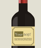 Wine bottle label Stock Image