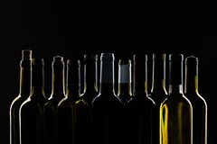 Wine bottle mockup. Front view stock image