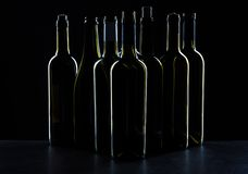 Wine bottle mockup. Front view royalty free stock photo
