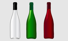 Wine bottle for new design Royalty Free Stock Photography